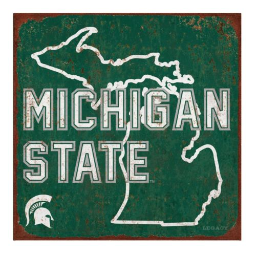 Legacy Athletic Michigan State Spartans State Tin Sign