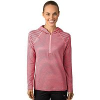 Women's Jockey Sport Quarter-Zip Striped Base-Layer Hoodie