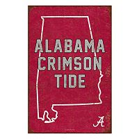 Legacy Athletic Alabama Crimson Tide State Tin Sign