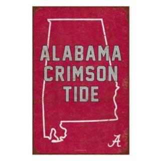 Legacy Athletic Alabama Crimson Tide State Tin Sign