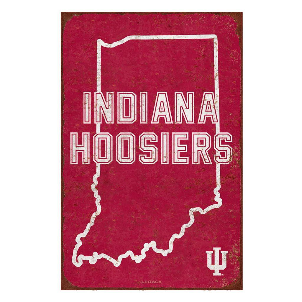 Legacy Athletic Indiana Hoosiers State Tin Sign