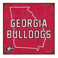 Legacy Athletic Georgia Bulldogs State Tin Sign