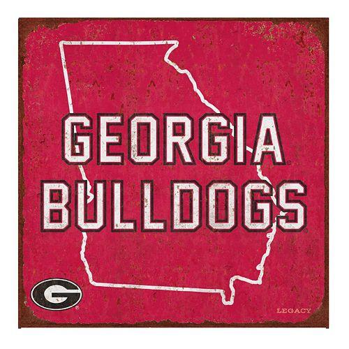 Legacy Athletic Georgia Bulldogs State Tin Sign