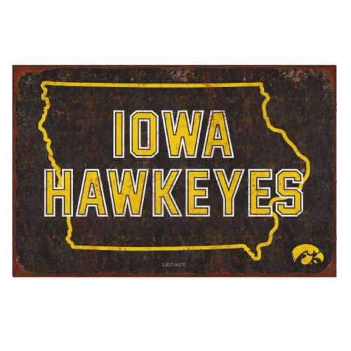 Legacy Athletic Iowa Hawkeyes State Tin Sign