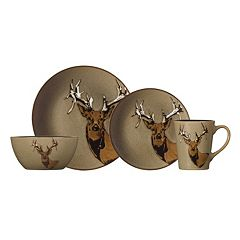 Pfaltzgraff Everyday Wildlife 16 pc Dinnerware Set