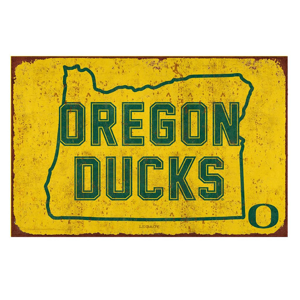 Legacy Athletic Oregon Ducks State Tin Sign