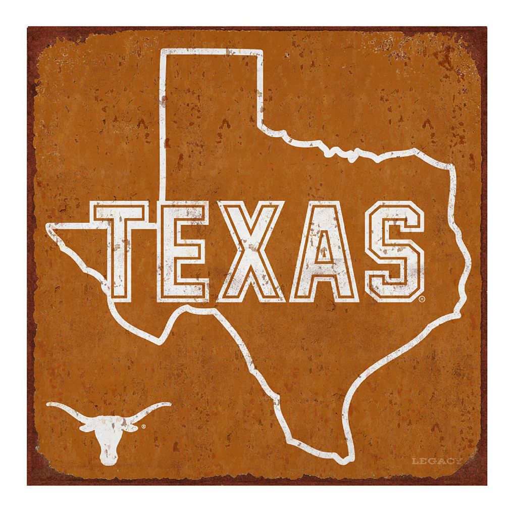 Legacy Athletic Texas Longhorns State Tin Sign