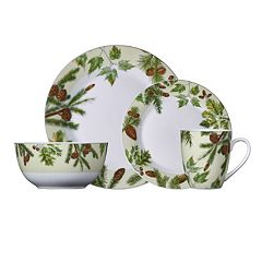 Pfaltzgraff Everyday Painted Forest 16 pc Dinnerware Set
