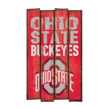 Legacy Athletic Ohio State Buckeyes Plank Sign