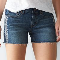 Women's SONOMA Goods for Life™ Embroidered Cutoff Jean Shorts