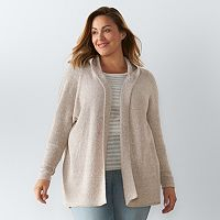 Plus Size SONOMA Goods for Life™ Hooded Cardigan