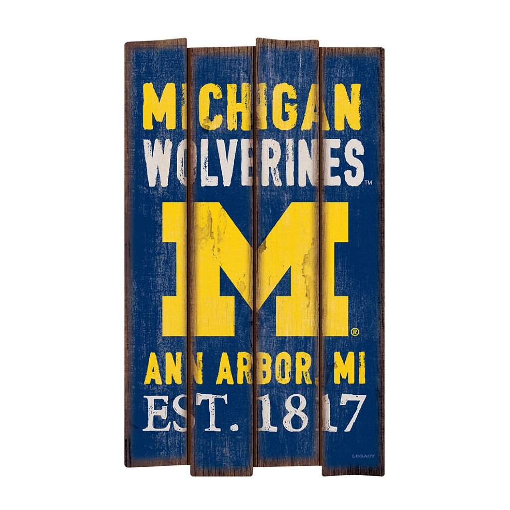 Legacy Athletic Michigan Wolverines Plank Sign