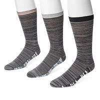 Men's MUK LUKS 3-Pack Patterned Footbed Socks