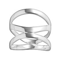 PRIMROSE Sterling Silver 3-Band Abstract Ring