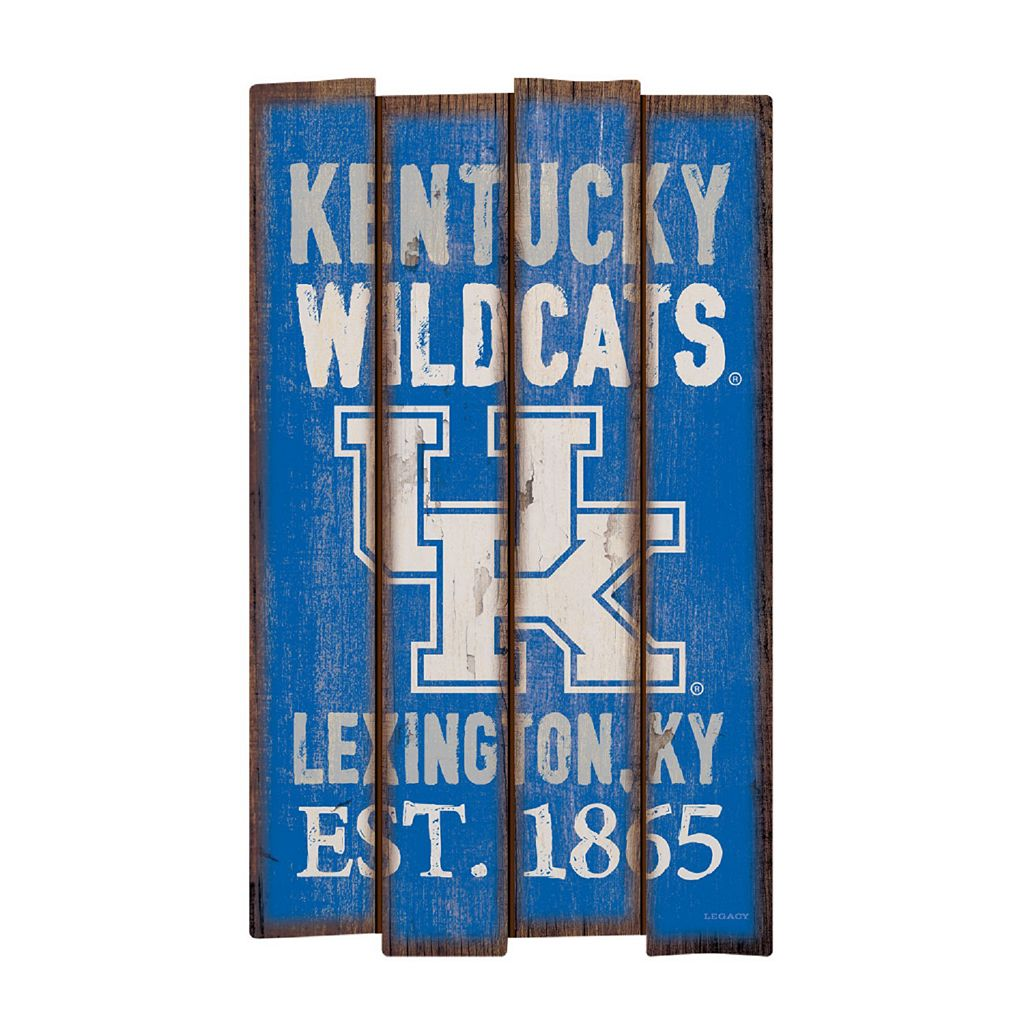 Legacy Athletic Kentucky Wildcats Plank Sign