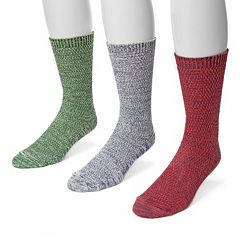 Adult MUK LUKS 3-Pack Marbled Socks