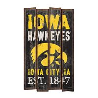 Legacy Athletic Iowa Hawkeyes Plank Sign