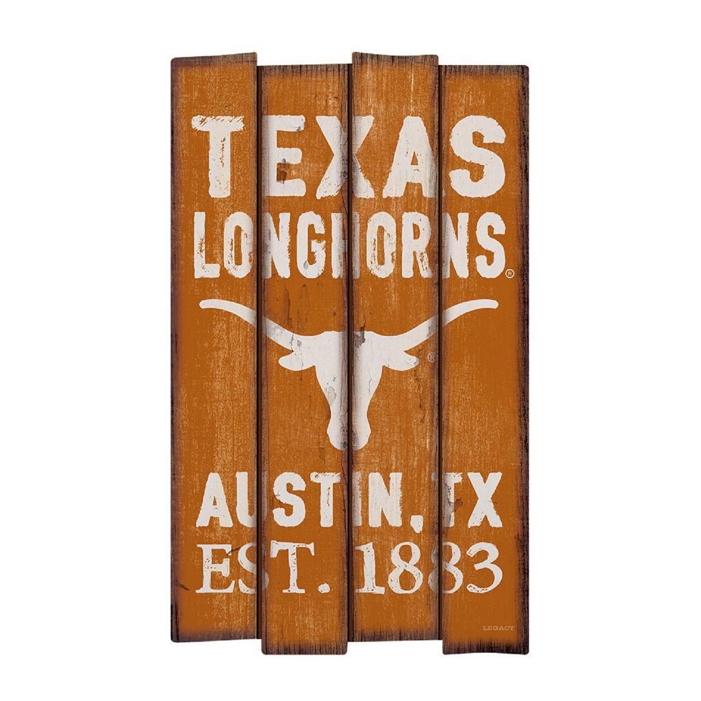 Legacy Athletic Texas Longhorns Plank Sign