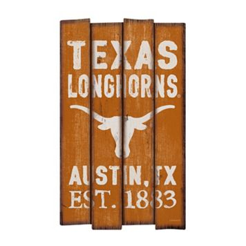 Legacy Athletic Texas Longhorns Plank Sign