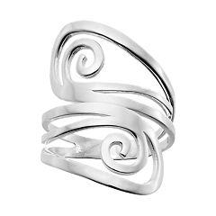 PRIMROSE Sterling Silver Swirl Ring