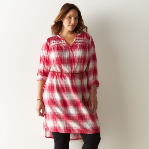 Plus Size SONOMA Goods for Life™ Plaid Flannel Shirtdress