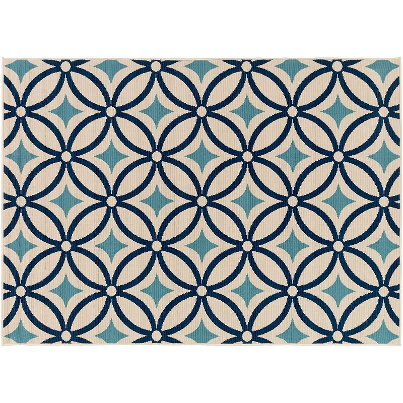 Decor 140 Ionia Geometric Indoor Outdoor Rug, Blue, 2X3 Ft
