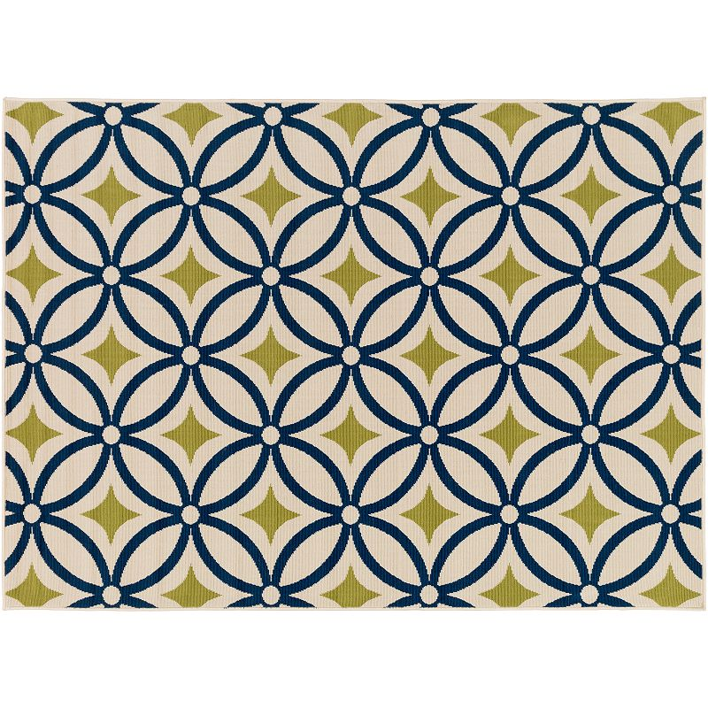 Decor 140 Ionia Geometric Indoor Outdoor Rug, Green, 5X7 Ft