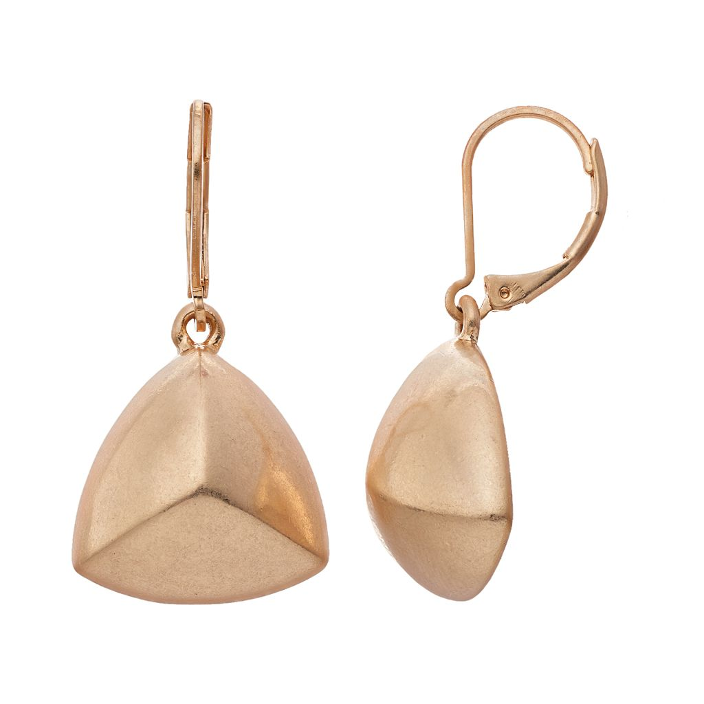 Simply Vera Vera Wang Pyramid Drop Earrings