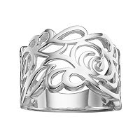 PRIMROSE Sterling Silver Scroll Ring