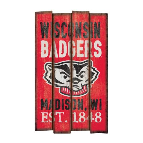 Legacy Athletic Wisconsin Badgers Plank Sign