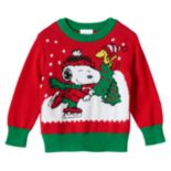 Toddler Boy Peanuts Snoopy & Woodstock Holiday Sweater