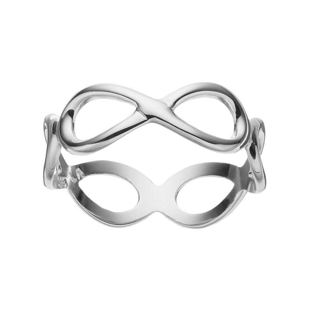 silver ring ladies symbol angel jewellery infinity lisa sterling
