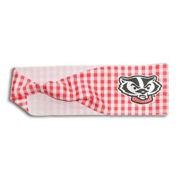 Legacy Athletic Wisconsin Badgers Gingham Headband