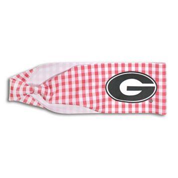 Legacy Athletic Georgia Bulldogs Gingham Headband