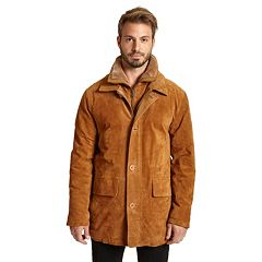 Big & Tall Excelled Double-Collar Suede Jacket