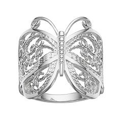 PRIMROSE Sterling Silver Butterfly Ring