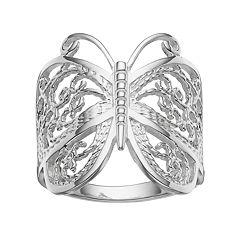 PRIMROSE Sterling Silver Butterfly Ring