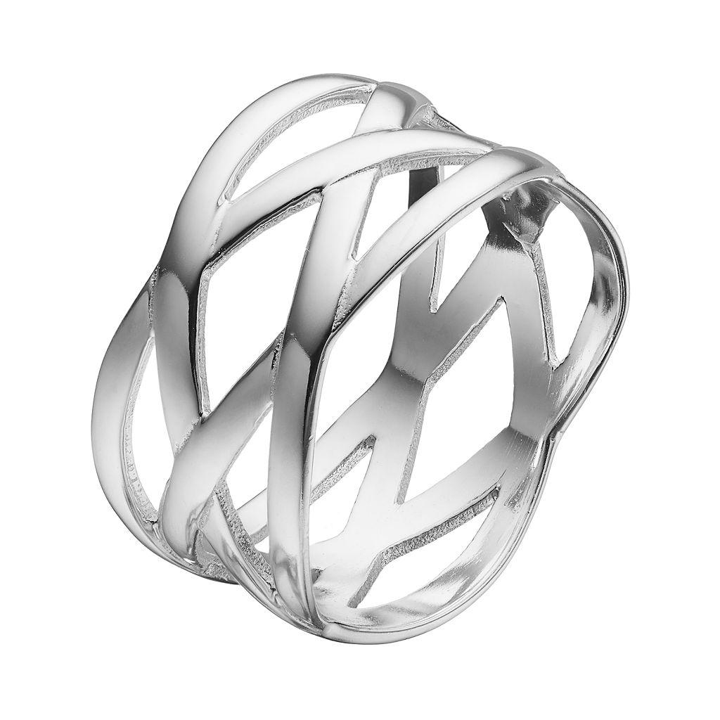 PRIMROSE Sterling Silver Woven Ring