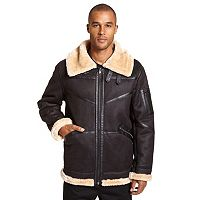 Big & Tall Excelled Faux-Shearling Bomber Jacket