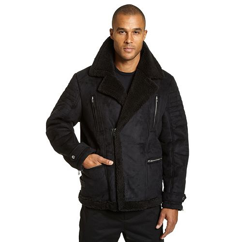 e5245bef0441d Big   Tall Excelled Faux-Shearling Jacket