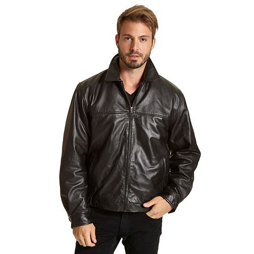 Big & Tall Excelled Leather Shirt-Collar Jacket