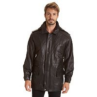 Big & Tall Excelled Lambskin Leather Hooded Parka