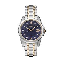Seiko Men's Le Grand Sport Diamond Two-Tone Stainless Steel Solar Watch - SNE428