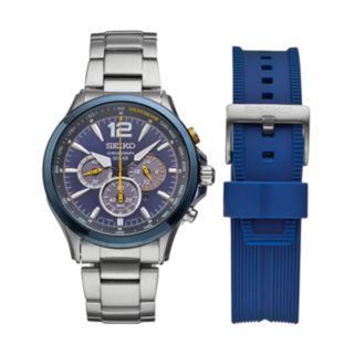 Seiko Men's Core Jimmie Johnson Special Edition Solar Watch & Interchangeable Band Set - SSC505