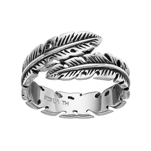PRIMROSE Sterling Silver Feather Bypass Ring