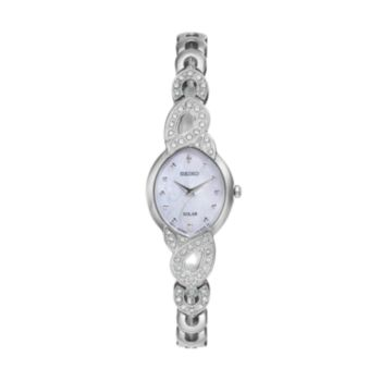 Seiko Women's Core Crystal Stainless Steel Solar Watch - SUP339