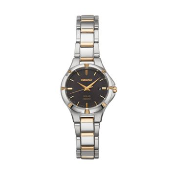 Seiko Women's Core Two Tone Stainless Steel Solar Watch - SUT316
