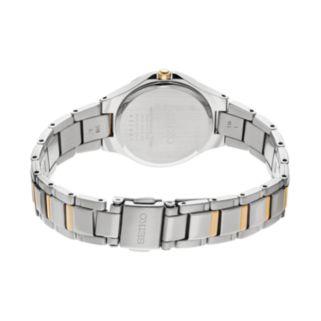 Seiko Women's Core Two Tone Stainless Steel Solar Watch - SUT316