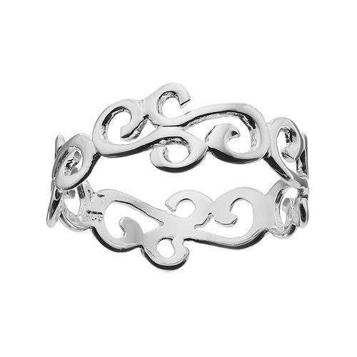 PRIMROSE Sterling Silver Scroll Ring