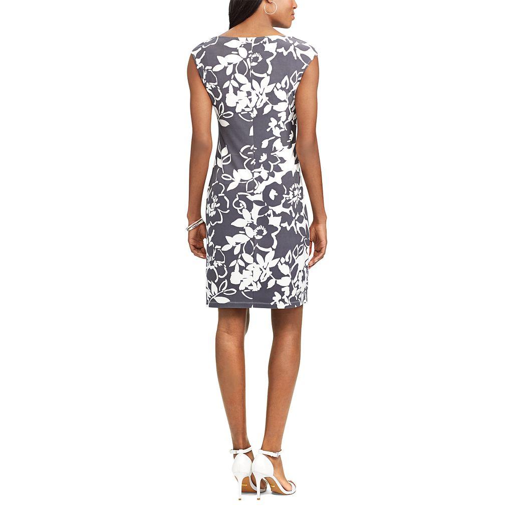 Women's Chaps Chain Print Sheath Dress